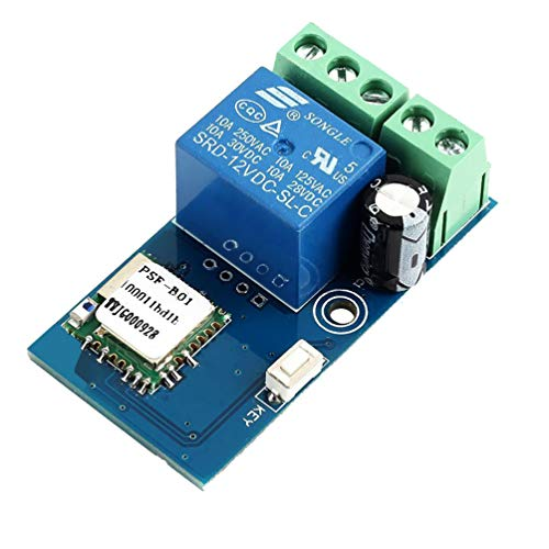 WHDTS WiFi Relay Delay Switch Module Self-Lock Latching Mode Low Power Smart Home Remote Control DC 12V Compatible with iOS Andriod APP 2G/3G/4G Network ()