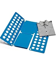 Bullidea 1X Adjustable Fast Clothes Folder Shirt Folder, Fast Folding of Shirts, Pants, Towels and Sweaters, T-shirts Folding Board for Children PP&PE Material(38*40CM)