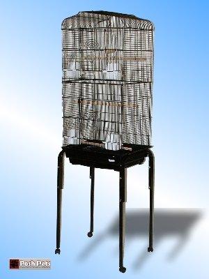 San Pablo Maxi Grande jaula de pájaros con soporte de mesa: Amazon ...