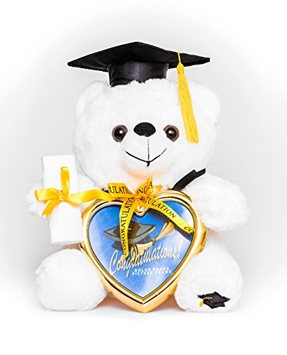 """8"""" Graduation Plush Teddy Bear with Cap and Diploma in Hand!"""