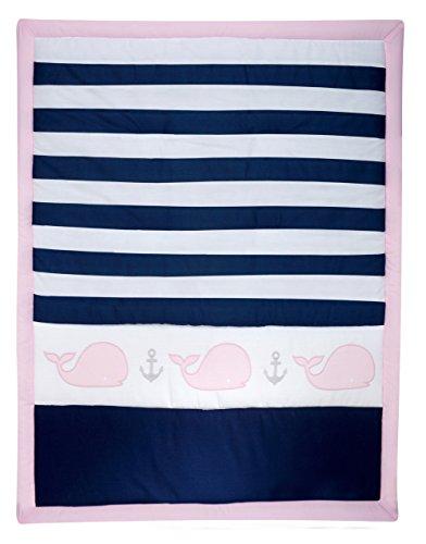 Nautica Kids Nursery Separates Comforter, Pink, Navy, White ()