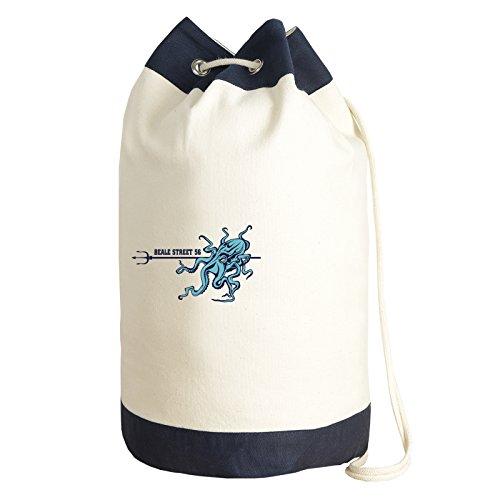 Seesack im Matrosen Look Motiv Krake Tasche Turnbeutel Beutel Bag Canvas Segeln Segellook Segelmotiv Matrosenlook