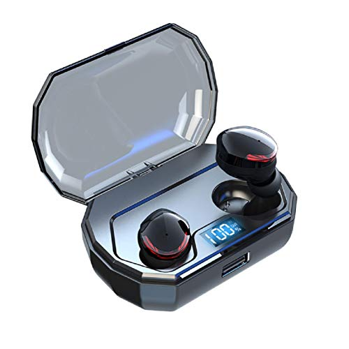 Price comparison product image Cinhent Wireless Bluetooth Headset - Mini Bluetooth Earbud TWS IPX7 Waterproof 5.0 Stereo Hi-Fi Sound Earphone Bass in-Ear Headset for Android Smart Phones / iOS Phones with Charging Case