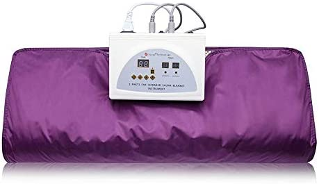 ETE ETMATE Sauna Blanket Digital Heat Sauna Slimming Blanket 2 Zone Controller Body Shaper Weight Loss Professional Detox Therapy Anti Ageing Beauty Machine Purple