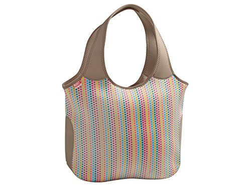 BUILT NY Essential Neoprene Shopping Tote Bag, Candy Dot