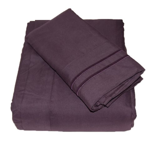 Comfort Products Set Mattress (Waterbed Sheets/California King Luxury 1800 Series Sheet Set - Purple)