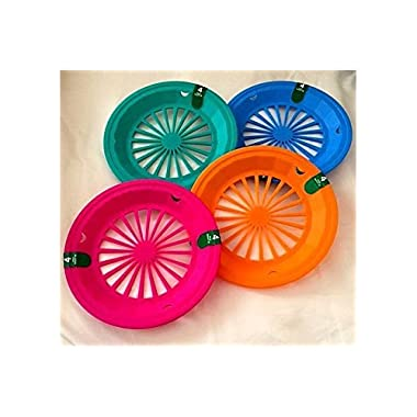 (16 Pack) Reusable Plastic Paper Plate Holders for 9  Plates Tropical Colors