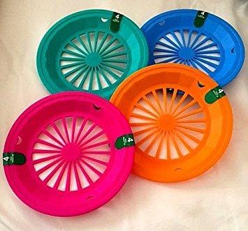 (16 Pack) Reusable Plastic Paper Plate Holders for 9\u0026quot; Plates Tropical Colors  sc 1 st  Amazon.com & Amazon.com: (16 Pack) Reusable Plastic Paper Plate Holders for 9 ...