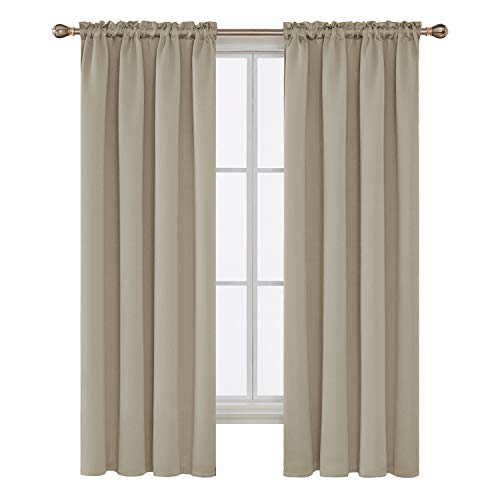 Deconovo Rod Pocket Blackout Curtains Thermal Insulated