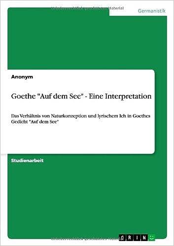 Book Goethe Auf Dem See - Eine Interpretation
