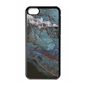 iPhone 5c Cell Phone Case Black Satellite Imagery and Topographic Maps JNR2143200