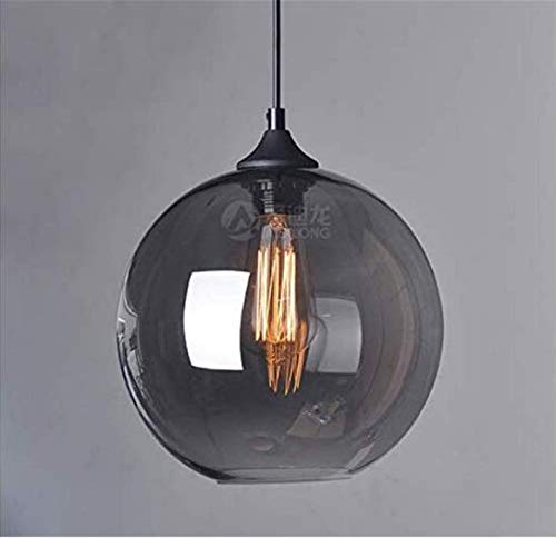 Lichtceiling Light Creative Cafe Rauchgrau Glas Ball Bar Single Head Kronleuchter Leuchte