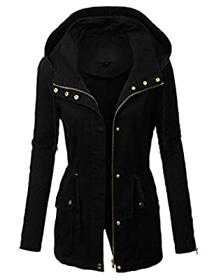 makeitmint Women's Zip Up Military Anorak Jacket w/Hood [S-3XL]