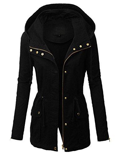 makeitmint Womens Zip Up Military Anorak Jacket w/Hood [S-3XL]