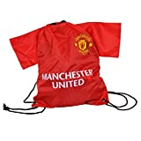 Manchester United FC Gym Bag - Red Shirt Design - Great for Carrying your Soccer Stuff - Features Man Utd Team Colors and Crest - Show Your Support For Manchester United FC Soccer
