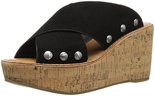 Chinese Laundry Women's OAHU Wedge Sandal, Black Suede, 9 M US ()