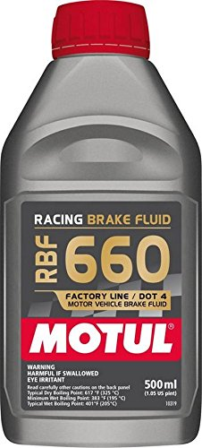 Motul 847205 RBF 660 Factory Line Dot-4 100 Percent Synthetic Racing Brake Fluid - 500 ml by Motul