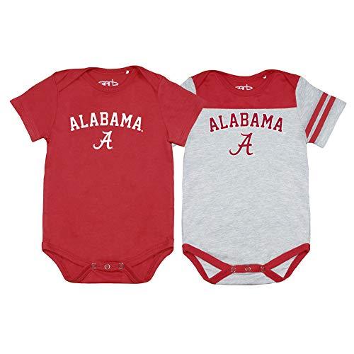 - Elite Fan Shop Alabama Crimson Tide Infant Onesie 2 Pack - 6M - Red