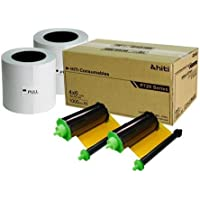 HiTi 4x6 2 Rolls of Ribbon and Paper Case for P720L Photo Printer, 2000 Prints Per Case