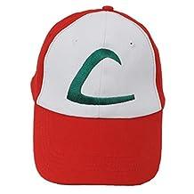 OliaDesign Pokemon ASH KETCHUM Trainer Costume Cosplay Baseball Hat Cap Summber Sun Kids Adjustable