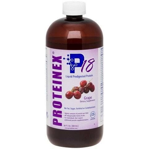 Proteinex Liquid Protein - Proteinex 18 Liquid protein 30 oz Grape Case of 6