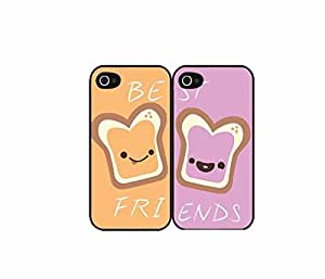 Generic Peanut Butter and Jelly bff Set of 2 Best Friend Matching Couple Cell Phone Cases for iPhone 6 (4.7 Inch Screen)