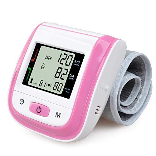 Elera Wrist Blood Pressure Cuff,Fda Approved Blood Pressure Monitor,Blood Pressure Cuff,Automatic Blood Pressure Monitor(Pink)