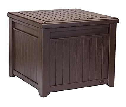 Jnwd Resin Storage Bench Cabinet Large 55 Gallon Waterproof Storage  Container Box Durable Seat Coffee Table