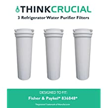 3 Fisher & Paykel 836848 Refrigerator Water Purifier Filter Fits E402B, E442B, E522B & RF90A180DU, Designed & Engineered by Think Crucial