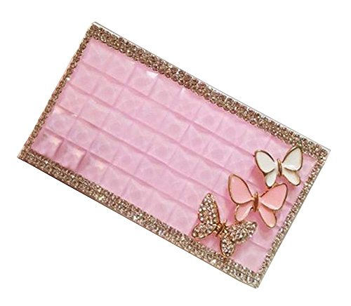 [Butterfly] Ladies Rhinestones Cigarette Case Women Cigar Box Cigarette Holder (Holder Box Cigarette Case)