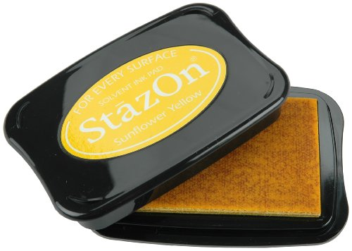 Tsukineko Full-Size StazOn Multi-Surface Inkpad, Sunflower Yellow