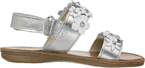 Naturino - Sandalias de vestir de Piel para niña plateado plateado