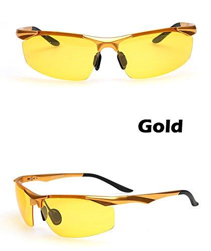 sesgada conducción gafas para antirreflejos gafas visión hombres magnesio nocturna polarizador Gold TIANLIANG04 polarizadas de gafas Gold Los y aluminio la automovilistas qUEaZP