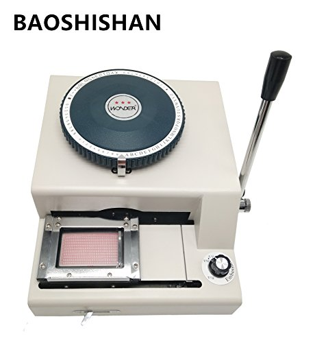 Boshi Electronic Instrument 2 in 1 75CE characters Manual PVC card Embosser machine + indent print Machine by Boshi Electronic InstrumentBAOSHISHAN