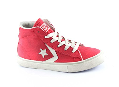 Converse 643776CS 35/39 Red White PRO Leather Vulc Mid Canvas Rosso