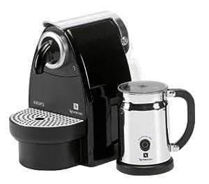 nespresso essenza auto by krups xn2120ap coffee machine bundle with aeroccino black. Black Bedroom Furniture Sets. Home Design Ideas
