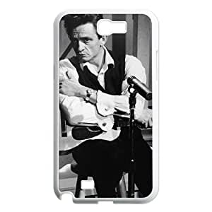 Samsung Galaxy Note 2 N7100 2D Customized Hard Back Durable Phone Case with Johnny Cash Image