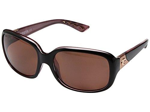 Costa Del Mar Gannet Sunglasses Shiny Black Hibiscus/Copper ()