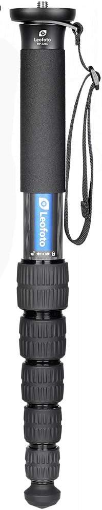 Leofoto MP-366C 6 Section CF Travel Monopod Carbon Fiber 65 Tall 17.3 Folded 1//4 /& 3//8