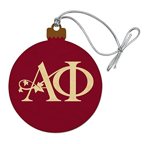 Graphics and More Alpha Phi International Women's Fraternity Sorority Logo Wood Christmas Tree Holiday Ornament