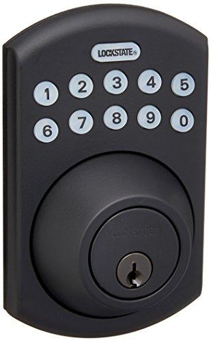 LockState RemoteLock 5i WiFi Electronic Deadbolt Door Lock - Rubbed Bronze - Boulder (LS-DB5i-RB-B)