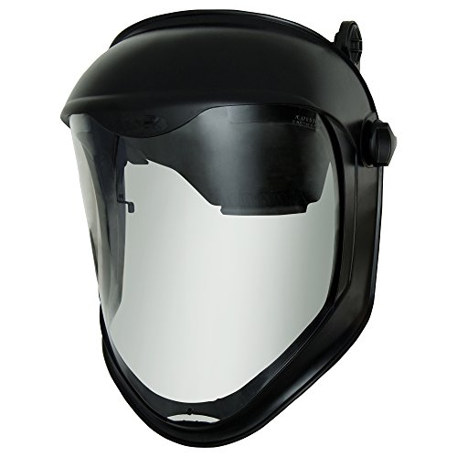 Uvex Bionic Face Shield with Hard Had Adapter and Clear Polycarbonate Anti-Fog/Hardcoat Visor (S8515)