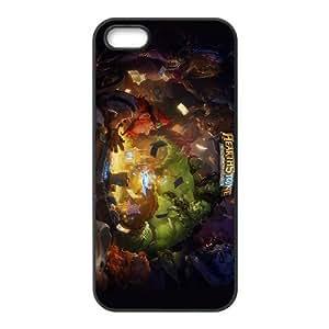 Hearthstone HEROES OF WARCRAFT 04 funda iPhone 4 4s funda caja del teléfono celular cubren negro, el funda iPhone 4 4s casos funda negro