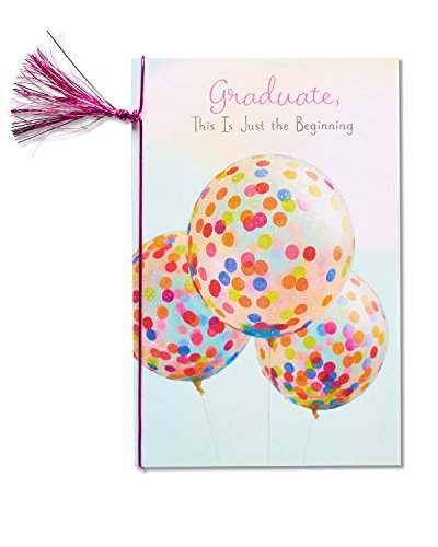 American Greetings Balloons Graduation Card for Her with Decorative (Balloons Greeting Card)