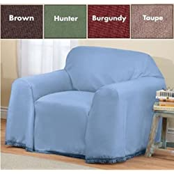 """Furniture Throw Covers with Non Skid Backing (Hunter Green, Chair (70"""" x 90""""))"""