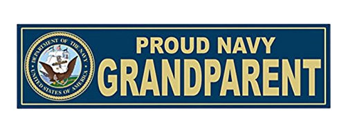 1 Pcs Effective Unique U S  Proud Navy Grandparent United States Of America Department Sticker Signs Bumper Military Wall Hoverboard Macbook Laptop Stickers Cars Vinyl Trucks Window Decal Size 11 X3