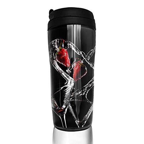 Sam-Uncle Travel Coffee Mug Love Cocktail Pattern Insulated Coffee Cup Thermos Water Bottle ()