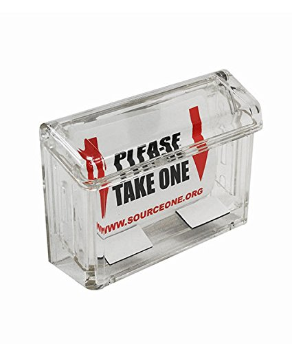 - Source One LLC Clear Outdoor Magnetic Business Card Holder (GAB-MAG)