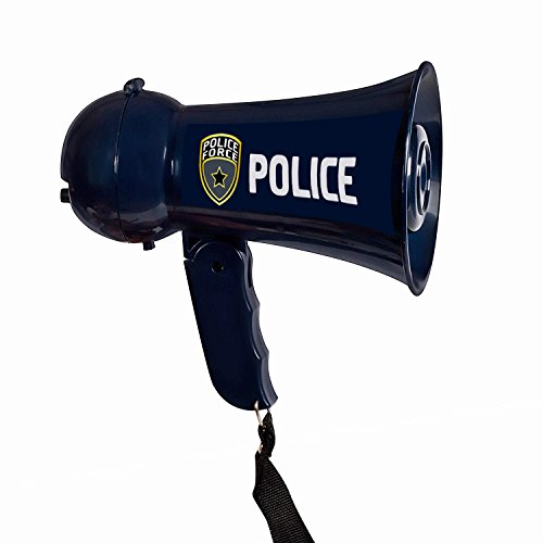 Find Bargain Pretend Police Officer Toy Megaphone with Siren Sounds for Kids - Loud, Clear, Folding ...