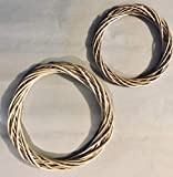 Floral Garden; 12 1/4-in; 9-in; Willow Wreathes;Light Wicker (2 Pack)